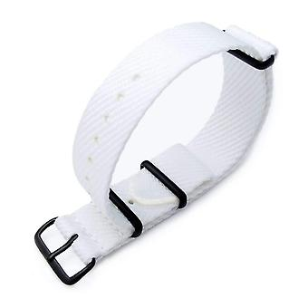 Strapcode n.a.t.o watch strap miltat 20mm g10 military n.a.t.o waffle nylon armband, pvd - white