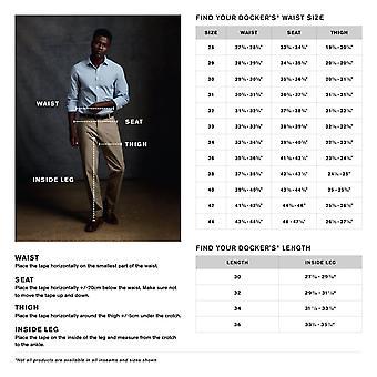Dockers Men's Easy Khaki D2 Straight-Fit Flat-Front Pant, 34W x 30L, Black