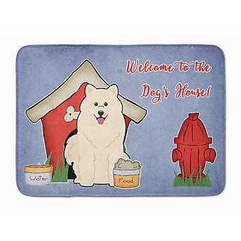 Dog House Collection Samoyed Machine Washable Memory Foam Mat