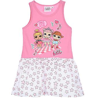 Dívky SE6299-1 LOL Překvapení Letní bavlněné šaty bez rukávů