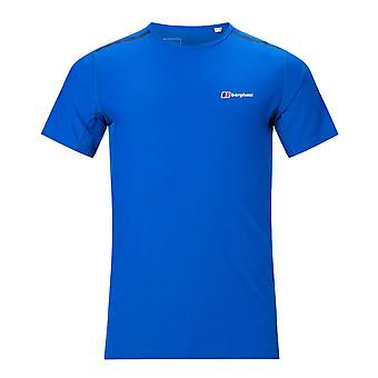 Berghaus Super Tech Mens Short Sleeve Outdoor Fitness Training T-Shirt Tee Blue