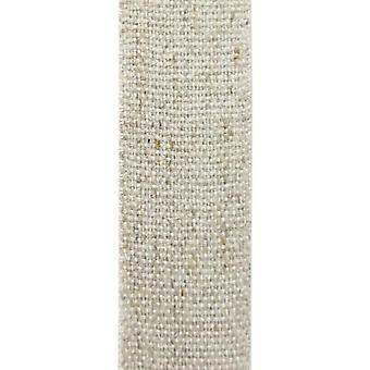 Vivant Ribbon Hemp cotton beige / natural 20m x 7mm