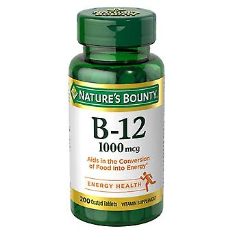 Nature's bounty vitamin b-12, 1000 mcg, coated tablets, 200 ea