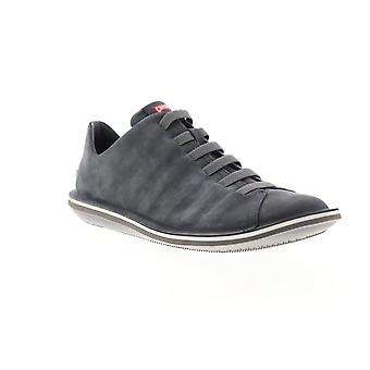 Camper Beetle  Mens Gray Nubuck Leather Lace Up Low Top Sneakers Shoes