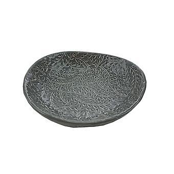 Schale etruskische Platte grau Keramik