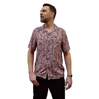 Chet Rock Bird Floral Shirt L