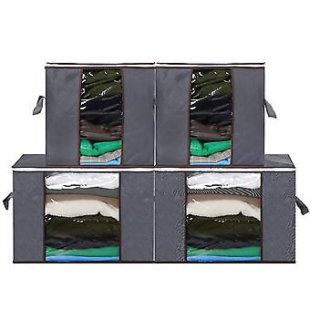 Non-woven Visual multipurpose storage box, perspective window multi-purpose storage bag 4pcs