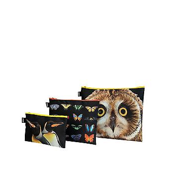 Loqi Women's National Geographic Owl Butterflies Penguins Zip Pockets