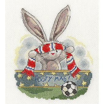 Bothy Threads Cross Stitch Kit - Footy Mad