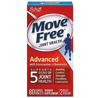 Move free advanced with glucosamine and chondroitin, tablets, 80 ea
