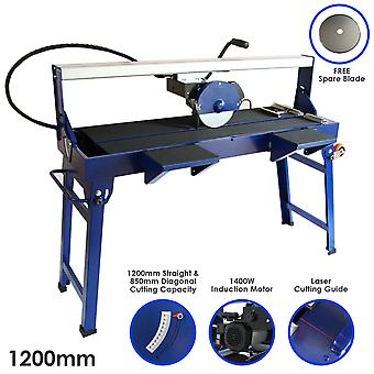 Wet Tile Cutter Saw Diamond Blade Bench Table Frame Bridge Cutting 1200mm 1400W