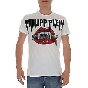 Philipp Plein P20cmtk4473pjy002n01 Miesten valkoinen puuvilla t-paita
