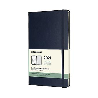 2021 12M Wkly Ntbk Lrg Sapphire Blue HD
