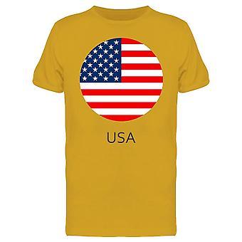 Bandera Americana en Botón Camiseta Hombres's -Imagen por Shutterstock