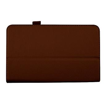 "Magnetic PU Leather Case Cover for Samsung Galaxy Tab 4 8"" T330[Brown]"