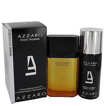 Coffret Azzaro de Azzaro 3.4 oz Eau De Toilette vaporisateur + 5,1 oz déodorant Spray