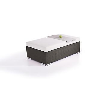 Polyrattan Cube kruk 125 cm - antraciet