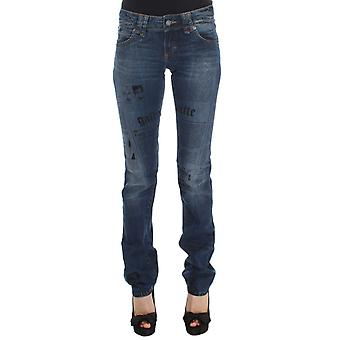 Galliano Blue Wash Cotton Blend Jeans Slim Fit Bootcut
