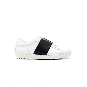 Valentino Garavani Uy2s0830blua01 Heren's Wit/zwart leren sneakers