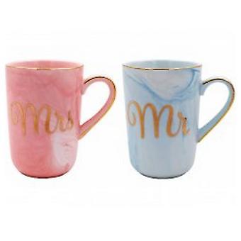 Marble & Gold Partner Mug Set