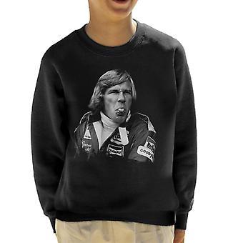Motorsport Images James Hunt Pulling Funny Face Kid's Sweatshirt