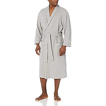 Essentials Men's Waffle Shawl Robe Sleepwear, -Light Grey, XL/XXL