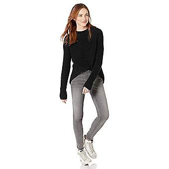 Merk - Goodthreads Women's Cotton Half-Cardigan Stitch Mock Neck Sweater, Zwart , XX-Large