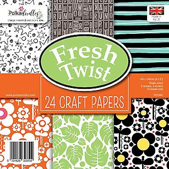 Polkadoodles Fresh Twist 6x6 Inch Paper Pack