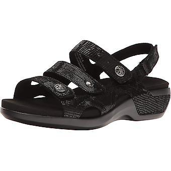 Aravon Women's Shoes WSK12BKM Open Toe Casual Slingback Sandals