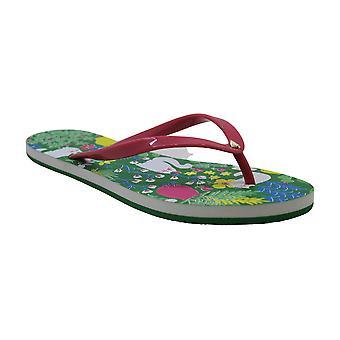 Kate Spade New York vrouwen ' s Natal flip flop sandaal, zwarte Parot, 6 M ons