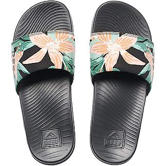 Reef Womens One Slide Beach Pool Summer Flip Flop Thongs Sliders - Hibiscus