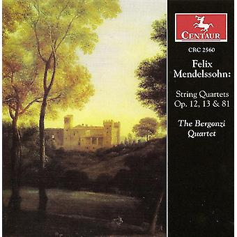 V - Mendelssohn: String Quartets, Opp. 12, 13, 81 [CD] USA import