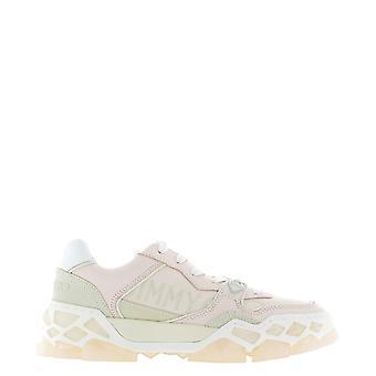 Jimmy Choo Diamondxfuauxpinkmix Kvinder's Pink Læder Sneakers