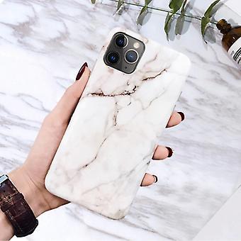 Moskado iPhone XS caso mármol textura - funda brillante a prueba de golpes Cubierta de granito Cas TPU