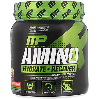 MusclePharm, Amino1, Hydrate + Recover, Cherry Limeade, 15.24 oz (432 g)