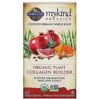 Livets trädgård, MyKind Organics, Ekologisk Växt kollagen byggare, 60 Vegan Tablet
