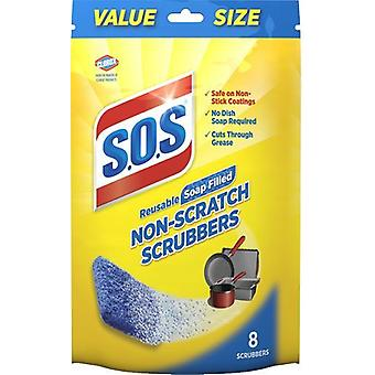 S.O.S Reusable Soap Filled Non-Scratch Scrubbers