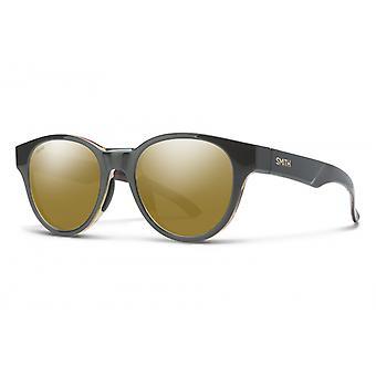 Zonnebril Unisex Snare donkergrijs/ goud
