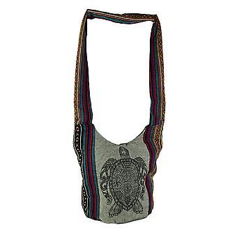 Le henné mer tortue Tribal Stripe Boho coton sac bandoulière