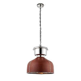 1 Licht Kuppel Deckenanhänger braun, Gold, Nickel, E27