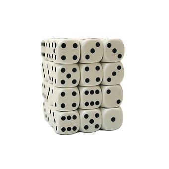 Chessex Opaque 12mm D6 Block - White/black
