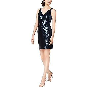 R&M Richards | V-Neck Sequined Sheath Dress
