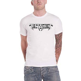 Testament T Shirt Bay Area Thrash Band Logo nouveau officiel Mens White
