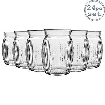 Bormioli Rocco 24 kpl makea kookoscocktail lasit setti - Koristeellinen trooppinen Tiki Baari juomaan tumblers - 440ml
