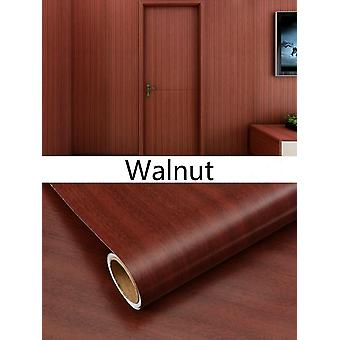 Pvc Wood Grain Wallpaper For Kitchen Films Reconditioned Clothes Closet Door