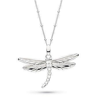 Kit Heath Blossom Flyte Dragonfly White Topaz 20-quot; Ball Chain Statement Necklace 90353WT