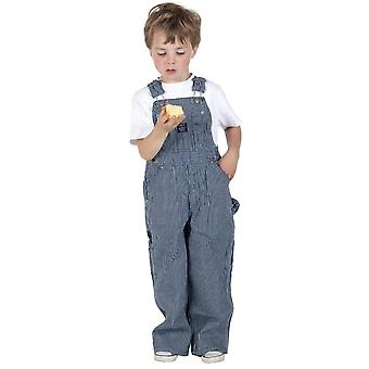 Key childrens dungarees - striped