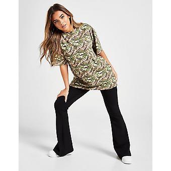 Nieuwe Supply & Demand Women's Graphic Back Camo Longline T-shirt Groen