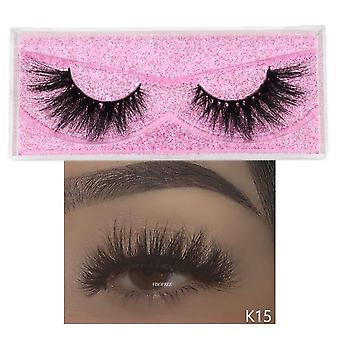 Cruelty Free, Handmade, Reusable Natural - 3d Mink Eyelashes