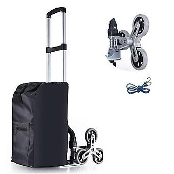 Stair Climbing Hand Truck With Bungee Cord - Portable Folding Trolley